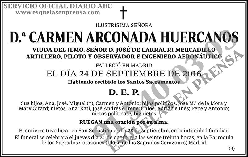 Carmen Arconada Huercanos